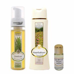 Zinnkraut-Shampoo-160ml-Haarbalsam-150ml-und-Argan-Haaroel-10ml-im-Set