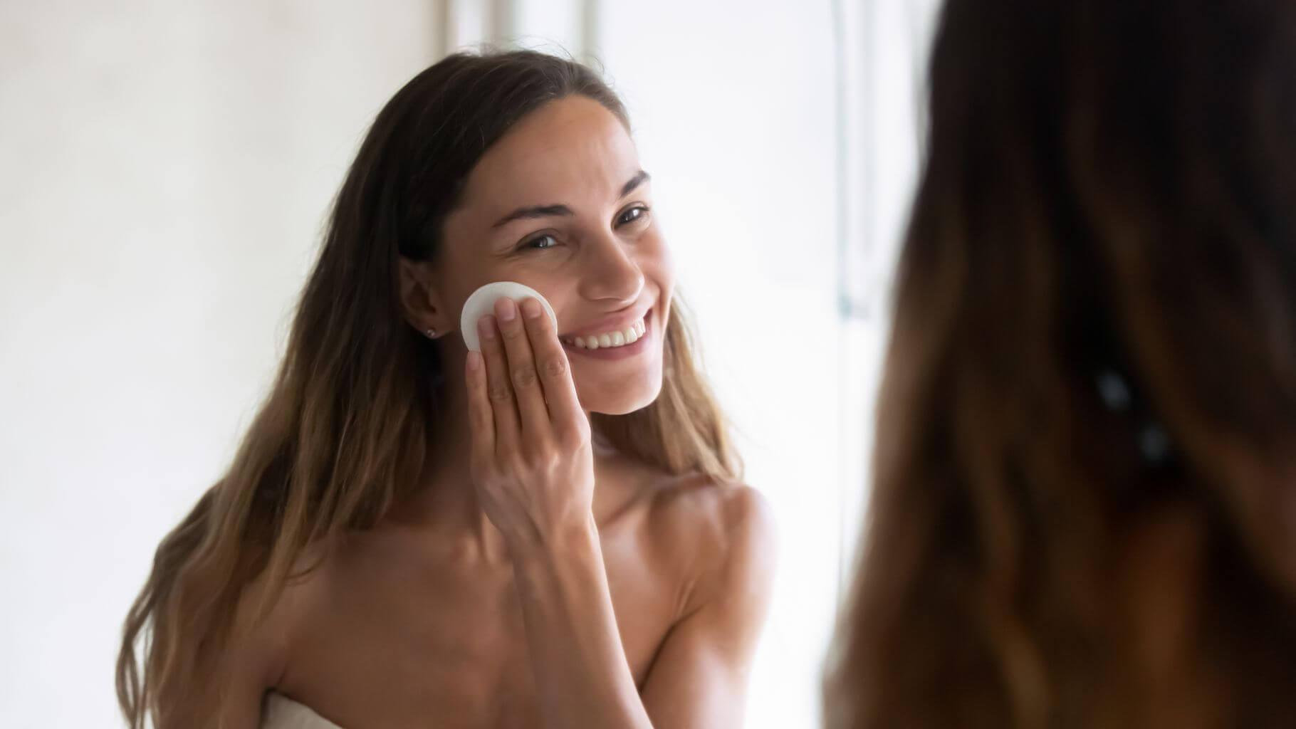 Gesichtsreinigung mit Reinigungsmilch